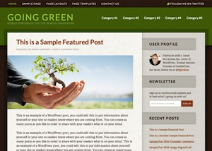 image of the going green theme for WordPress