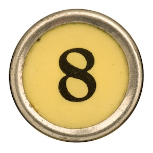 image of number eight typewriter key