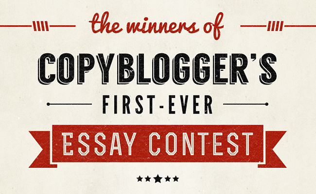 Image of The Copyblogger Essay Contest Winners Poster